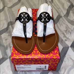 Tory Burch Mini Miller Black Thong Sandals